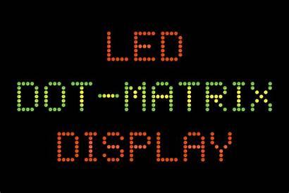 Dot Matrix Led Display Font Fonts Square