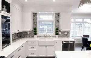 White And Gray Kitchen Kitchen Colors With White Cabinets