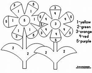 color by number flower coloring pages - flower color by numbers classroom ideas pinterest