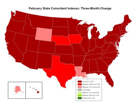 us heat map state coincident index in october see the