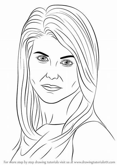 Lori Loughlin Draw Drawing Step Celebrities Tutorial