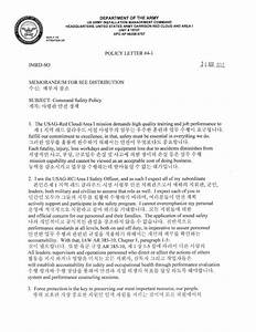 USAG Red Cloud mand Policy 401 CMD Safety Policy Letter with Hang…