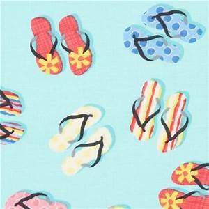 Stoff Flip Flops : blauer flip flop timeless treasures stoff aus den usa retrostoffe stoffe kawaii shop modes4u ~ Frokenaadalensverden.com Haus und Dekorationen