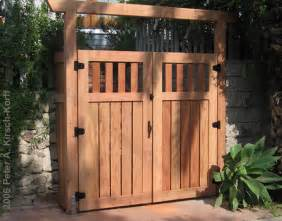 double wooden gate ideas