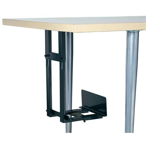montage pc bureau pc houder voor montage onder het bureau zwart bij conrad