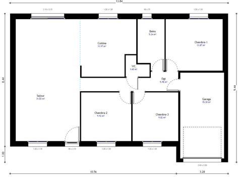 plan de maison plain pied 3 chambres gratuit plan de la maison habitat concept gi with maison