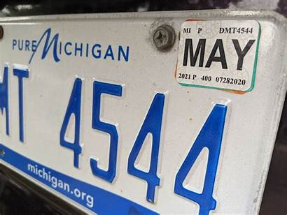 License Plate Michigan Tabs State Secretary Mlive