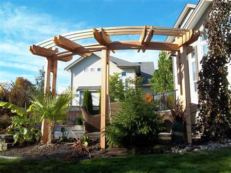 beautiful curved pergola  husband built  summer pergola garden curved pergola pergola