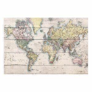 Carte Du Monde En Bois : panneau d coratif en bois carte du monde beige et multicolore 40x60x3 cm d co pinterest ~ Teatrodelosmanantiales.com Idées de Décoration
