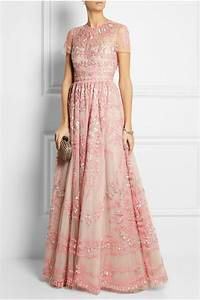 valentino embellished tulle gown in pink lyst With valentino robe
