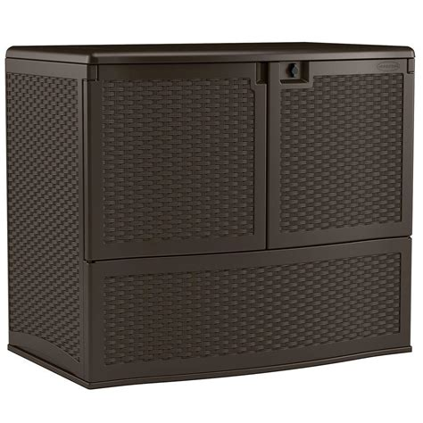 Suncast Backyard Oasis Vertical Deck Box suncast 195 gal backyard oasis vertical deck box java