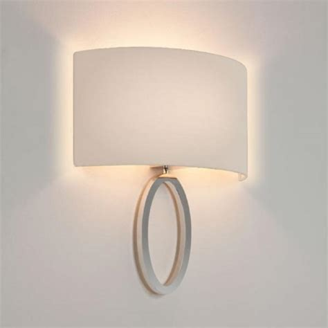 modern mix and match wall lights choice of finishes and fabric shades