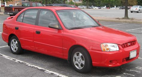2002 Hyundai Accent Red  200+ Interior and Exterior Images