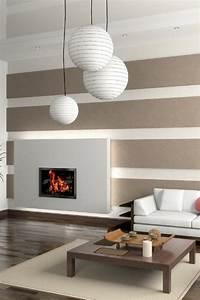 Wandfarben Ideen Wohnzimmer : wohnzimmer farben grau streifen ~ Lizthompson.info Haus und Dekorationen