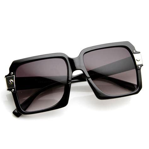 retro oversized plastic square thick frame sunglasses 8977 ebay