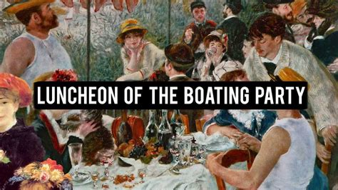 Synopsis Of Luncheon Of The Boating Party by Pierre Auguste Renoir Luncheon Of The Boating Party