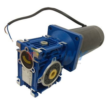 High Power Electric Motor by Dc 24v 60rpm Worm Geared Reducer Electric Motor Large High