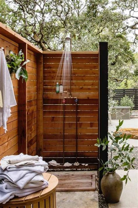 collection  outdoor shower ideas   home