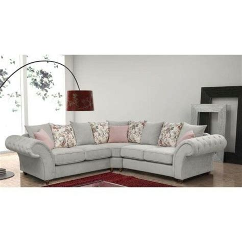 new settee new large roma 3 2 suite or corner sofa silver fabric
