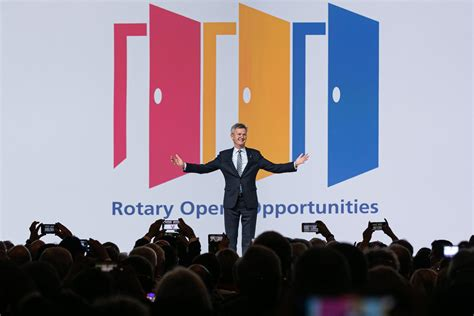 incoming rotary international president announces