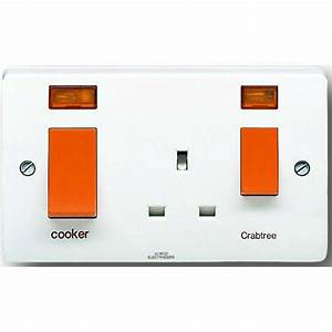 Crabtree 4521  31 Cooker Control Unit 45 Amp With 13 Amp