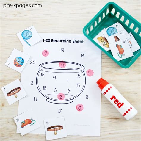 pets theme activities and centers for preschool 740 | Printable Pet Theme Number Game for Preschool