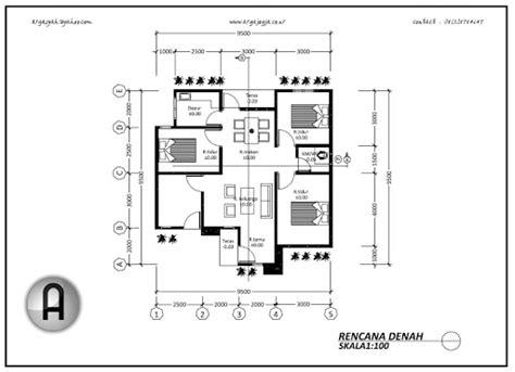 gambar denah rumah minimalis sederhana  kamar tidur