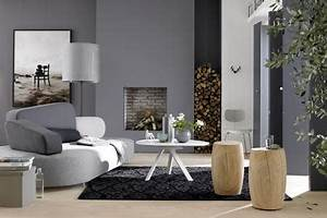 Warme Farben Wohnzimmer : einrichten mit farbe wohnzimmer in kieselstein grau bild 5 living at home ~ Buech-reservation.com Haus und Dekorationen