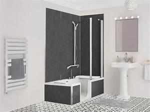 Baignoire Douche Dimension : duo composer remplacement de baignoire kinedo ~ Premium-room.com Idées de Décoration