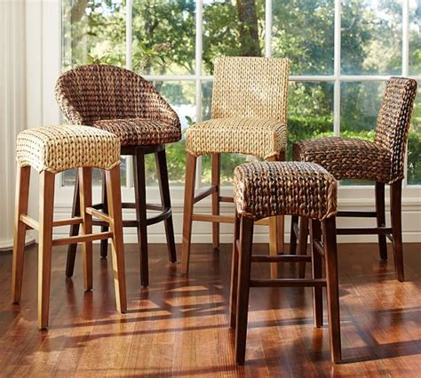 seagrass barstool pottery barn