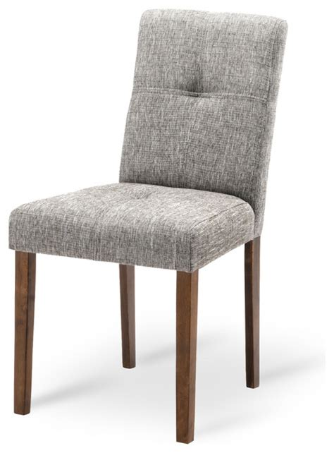 elsa coral fabric upholstered cocoa dining chair modern