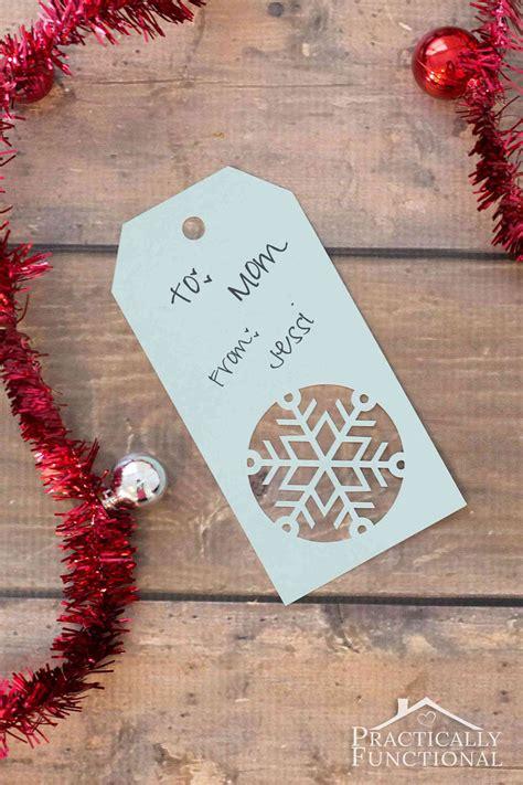 handmade snowflake christmas gift tags  template