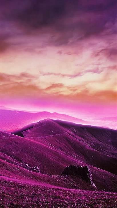 Purple Phone Mobile Wallpapers Hills Lavender 2mb