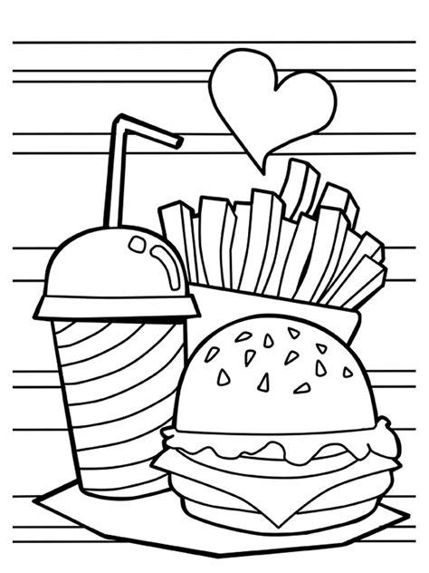 hamburger coloring pages  printable hamburger