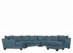 foresthill 5 pc microfiber sectional sofa indigo With 5 pc sectional sofas