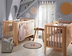 Idee Deco Chambre Bebe. stunning chambre enfant mur bleu gris ...