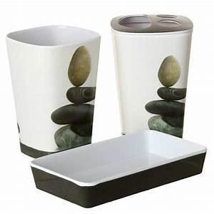 Accessoires De Salle De Bain : set de 3 accessoires salle de bain zen ~ Dailycaller-alerts.com Idées de Décoration