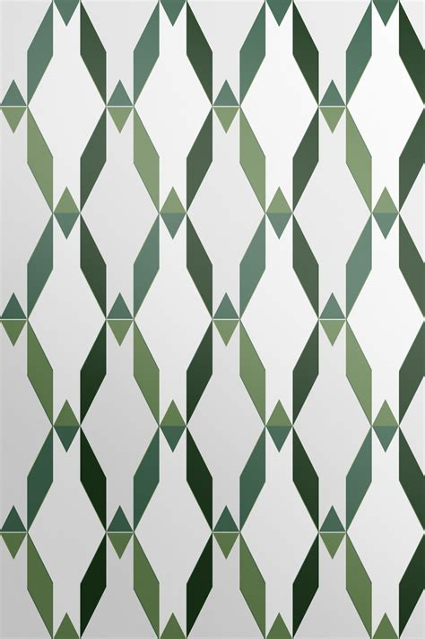Avocado Green Contemporary Wallpaper  Trellis Style