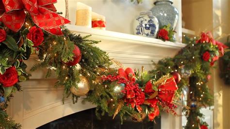 decorate  holiday mantel video youtube