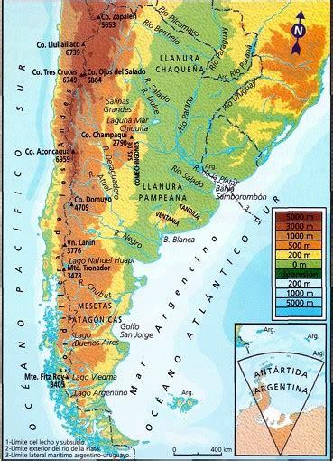 actividades relieves en argentina ciencias sociales