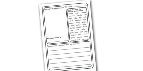 Writing Descriptions Templates by 13 Best Images Of Writing Worksheets Creative