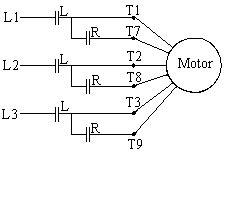 Part Winding Motor Starter Wiring by Delta
