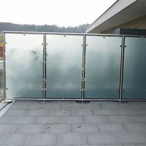 sichtschutz balkon panther glas ag With garten planen mit balkon windschutz glas