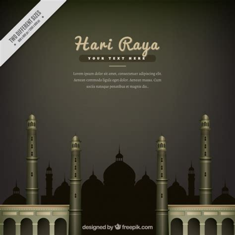 realistic hari raya background vector