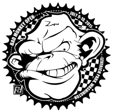 monkey bad open cash graphic disc golf 1500 added