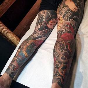 Traditional Men's Japanese Tattoo On Legs | 入れ墨 ...