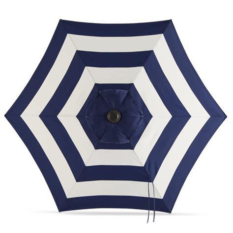shop garden treasures navy stripe market patio umbrella