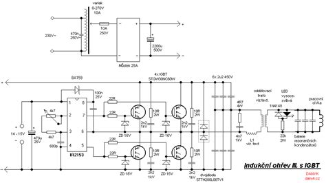 The Schematic Diagram Induction Heater With Igbt