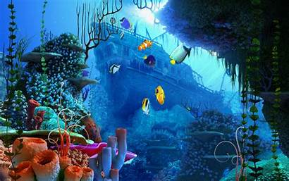 Sea Under Ocean Wallpapers Fantasy Pixel Natural
