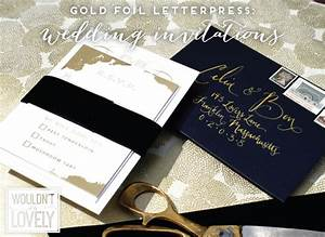 custom designed gold foil letterpress wedding invitations With personalised foil wedding invitations
